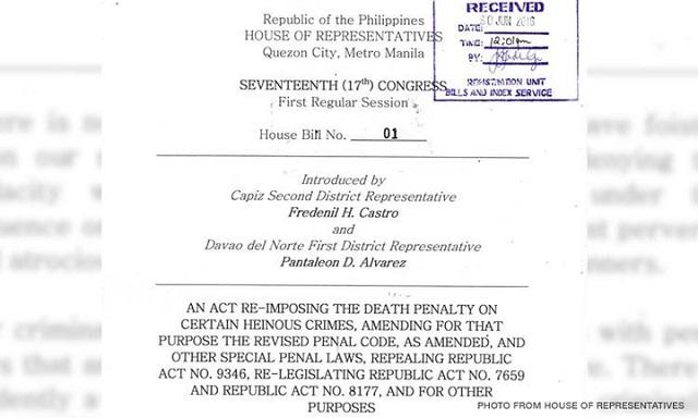 17th Congress House Bill 01