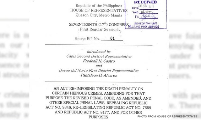 17th Congress House Bill 01