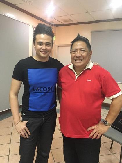 Si Biggel kasama si Dr. Roby Montellano