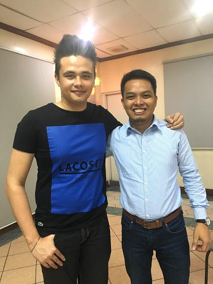 Ang Promdihirang Tisoy, kasama ang writer