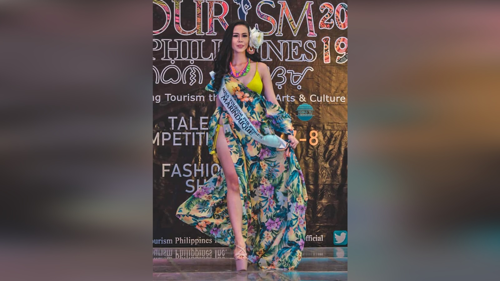 Ms. Tourism PH Marinduque 2019 Princess Nicca Blackburn during the Resort Wear Presentation at SM Fairview, Quezon City