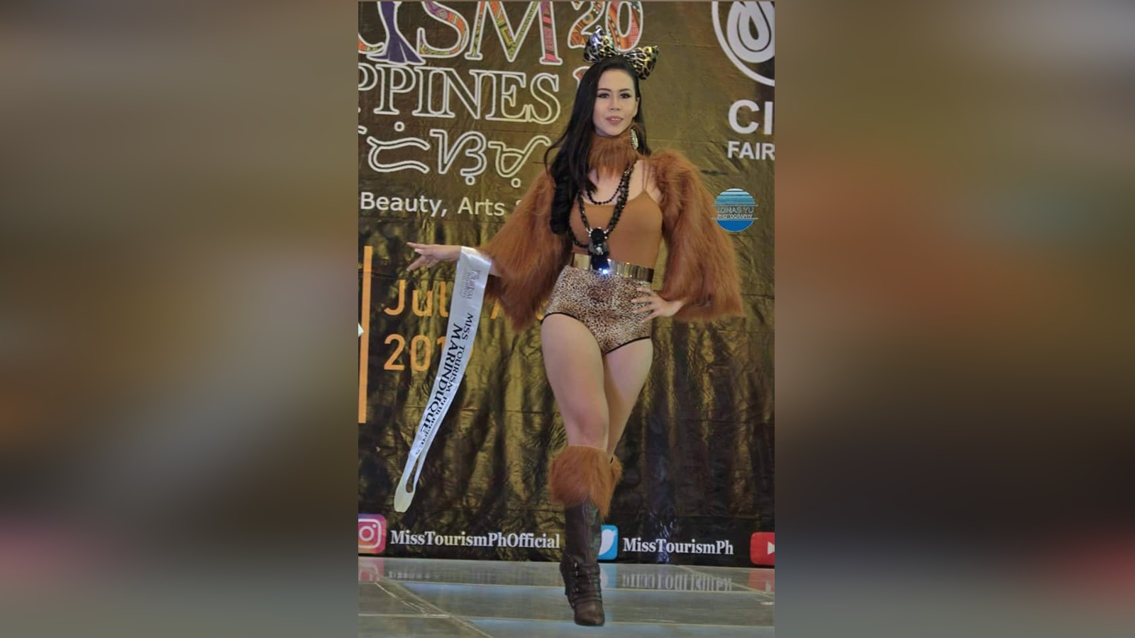 Ms. Tourism PH Marinduque 2019 Princess Nicca Blackburn as she walk on her Zafari Runway at SM Fairview, Quezon City
