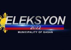 Mga tatakbo bilang mayor, vice mayor at councilor sa Gasan